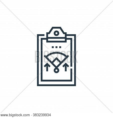 tactics icon isolated on white background from baseball collection. tactics icon trendy and modern t