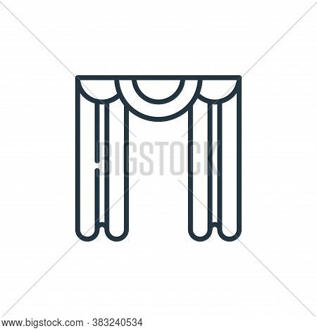 curtain icon isolated on white background from education collection. curtain icon trendy and modern