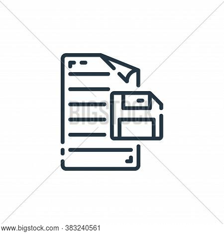 save icon isolated on white background from documents collection. save icon trendy and modern save s