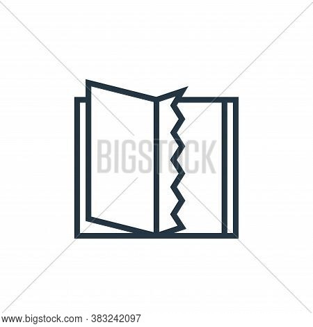 torn page icon isolated on white background from book and document collection. torn page icon trendy