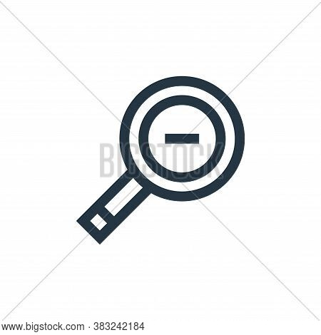 zoom out icon isolated on white background from graphic design collection. zoom out icon trendy and