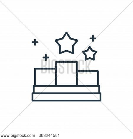 podium icon isolated on white background from racing collection. podium icon trendy and modern podiu