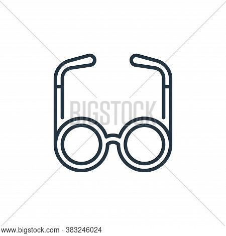 eyeglasses icon isolated on white background from education collection. eyeglasses icon trendy and m