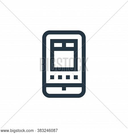 smartphone icon isolated on white background from graphic design collection. smartphone icon trendy