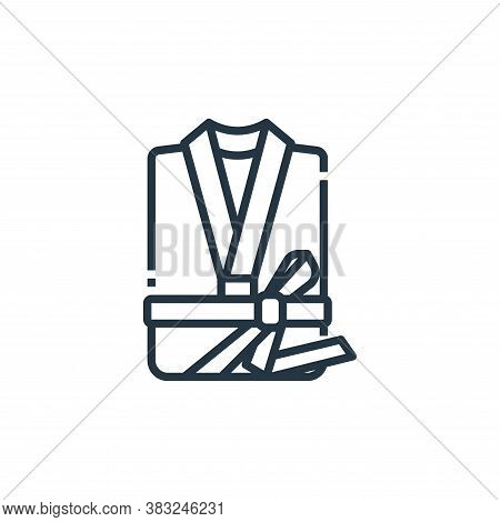 bathrobe icon isolated on white background from hotel essentials collection. bathrobe icon trendy an