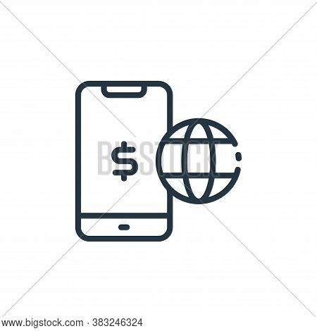 mobile banking icon isolated on white background from finance collection. mobile banking icon trendy