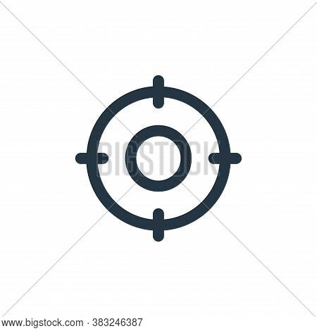 target icon isolated on white background from user interface collection. target icon trendy and mode