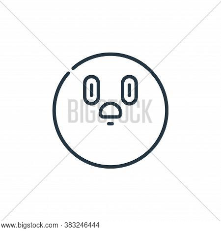 shocked icon isolated on white background from education collection. shocked icon trendy and modern