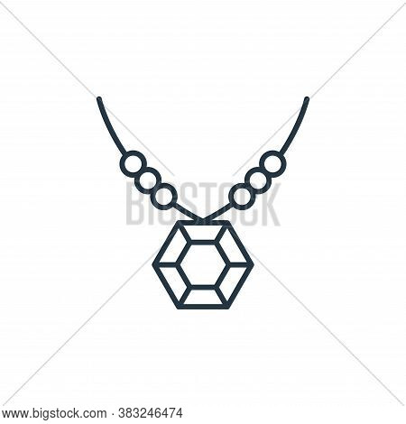diamond necklace icon isolated on white background from antique collection. diamond necklace icon tr