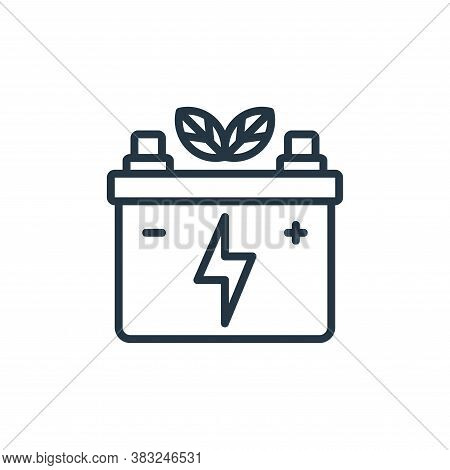 eco battery icon isolated on white background from ecology collection. eco battery icon trendy and m