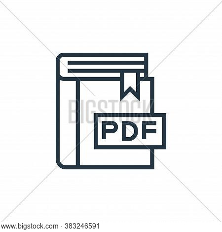 pdf file icon isolated on white background from book and document collection. pdf file icon trendy a