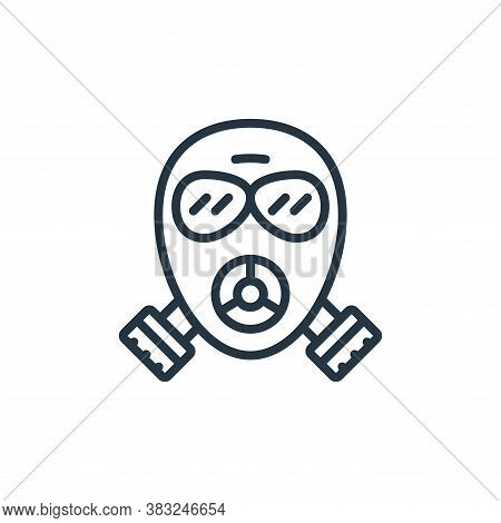 gas mask icon isolated on white background from ecology collection. gas mask icon trendy and modern