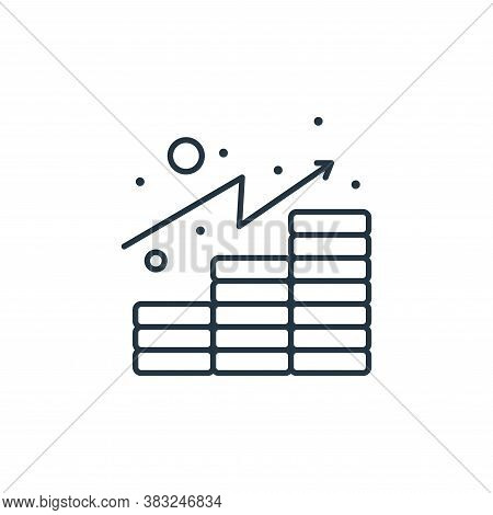 analytics icon isolated on white background from taxes collection. analytics icon trendy and modern