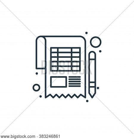account icon isolated on white background from taxes collection. account icon trendy and modern acco