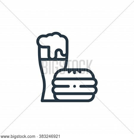fast food icon isolated on white background from american football collection. fast food icon trendy