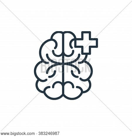 human brain icon isolated on white background from health collection. human brain icon trendy and mo