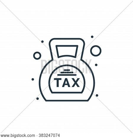 taxes icon isolated on white background from taxes collection. taxes icon trendy and modern taxes sy