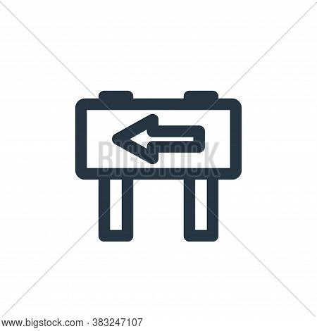 left way icon isolated on white background from holiday collection. left way icon trendy and modern