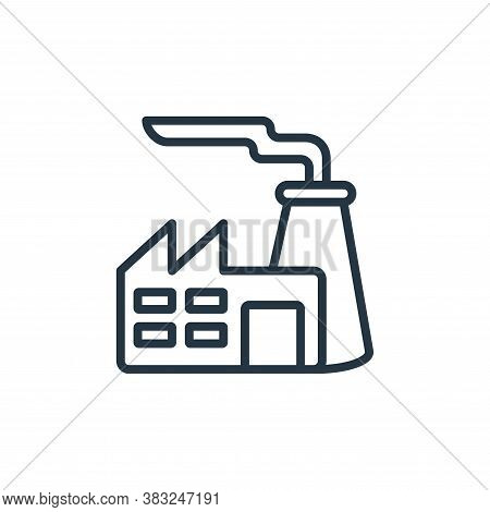 industry icon isolated on white background from ecology collection. industry icon trendy and modern
