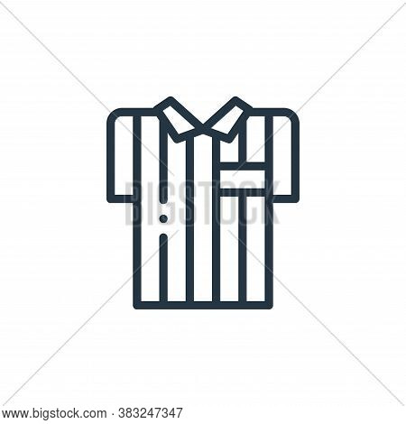 referee jersey icon isolated on white background from american football collection. referee jersey i