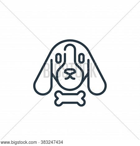 dog icon isolated on white background from education collection. dog icon trendy and modern dog symb