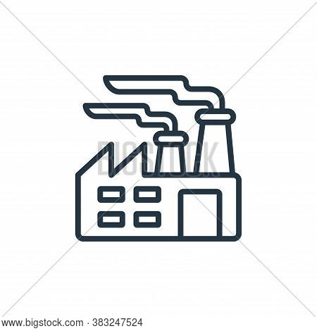 factory icon isolated on white background from ecology collection. factory icon trendy and modern fa