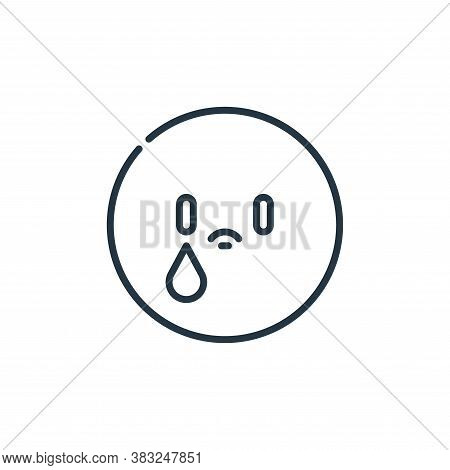 sad icon isolated on white background from education collection. sad icon trendy and modern sad symb