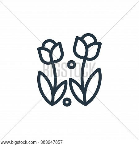 flower icon isolated on white background from spring collection. flower icon trendy and modern flowe