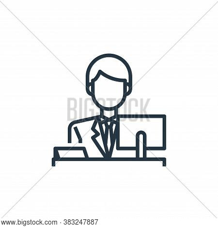 reception icon isolated on white background from hotel essentials collection. reception icon trendy
