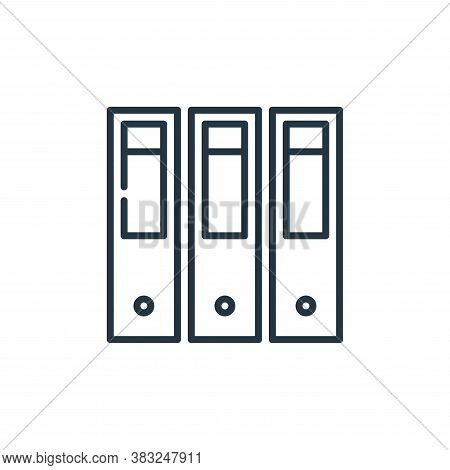 file icon isolated on white background from education collection. file icon trendy and modern file s