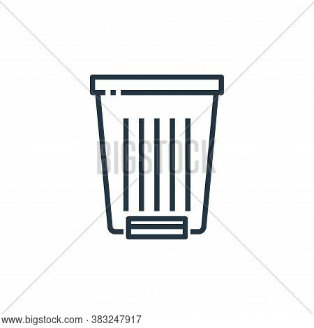 bin icon isolated on white background from hotel essentials collection. bin icon trendy and modern b
