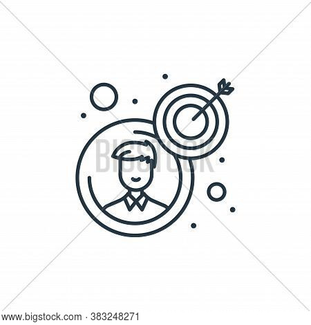 goal icon isolated on white background from strategy collection. goal icon trendy and modern goal sy
