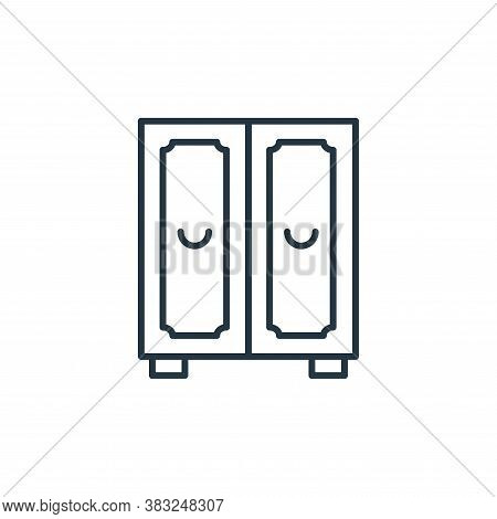 wardrobe icon isolated on white background from antique collection. wardrobe icon trendy and modern