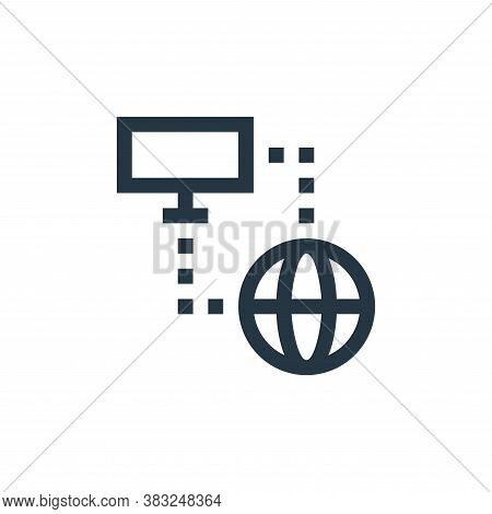 network icon isolated on white background from esports collection. network icon trendy and modern ne