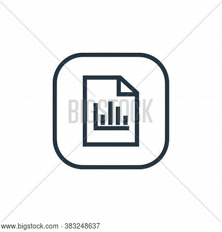 statistics icon isolated on white background from files and folders collection. statistics icon tren