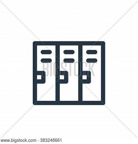 lockers icon isolated on white background from american football collection. lockers icon trendy and