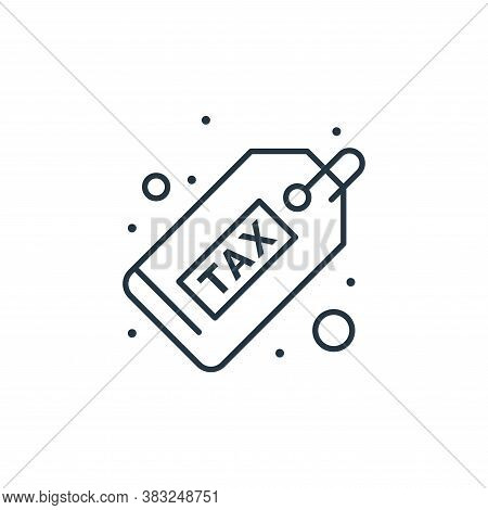 tag icon isolated on white background from taxes collection. tag icon trendy and modern tag symbol f