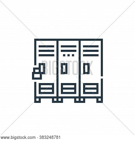 lockers icon isolated on white background from baseball collection. lockers icon trendy and modern l
