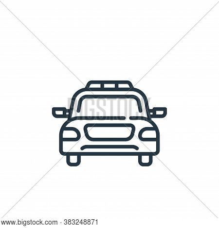 police car icon isolated on white background from law and justice collection. police car icon trendy