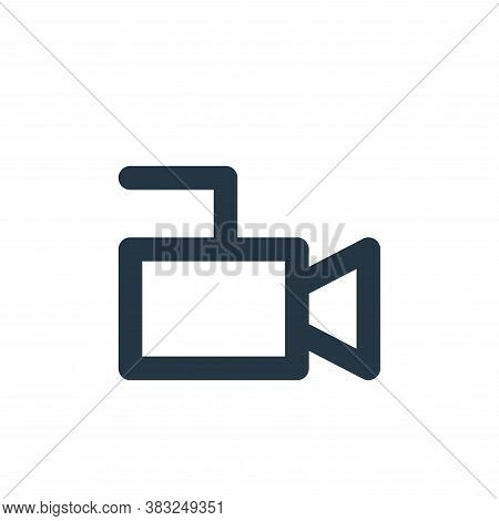 video recorder icon isolated on white background from px devices collection. video recorder icon tre