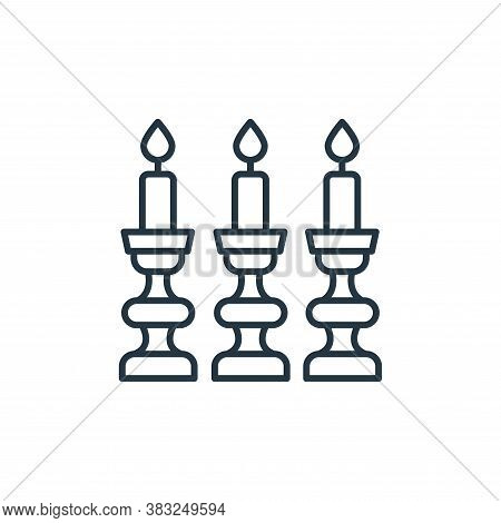 candlestick icon isolated on white background from antique collection. candlestick icon trendy and m