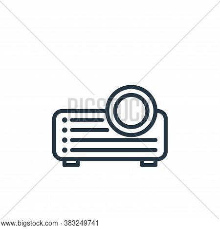 projector icon isolated on white background from electronic devices outline collection. projector ic