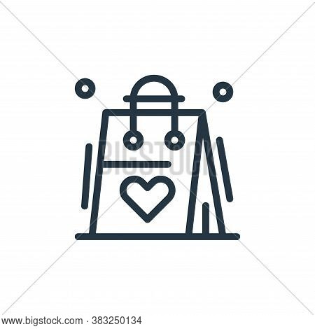 shopping bag icon isolated on white background from women day collection. shopping bag icon trendy a