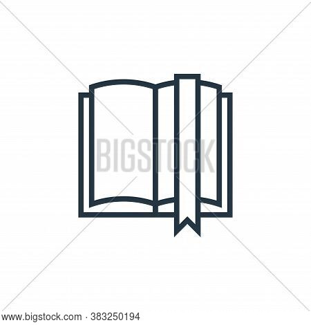 bookmark icon isolated on white background from book and document collection. bookmark icon trendy a