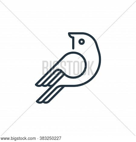 bird icon isolated on white background from education collection. bird icon trendy and modern bird s