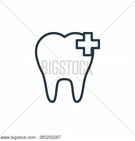 tooth hygiene icon isolated on white background from health collection. tooth hygiene icon trendy an