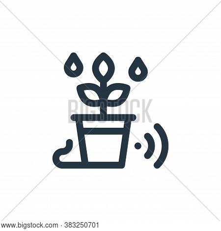 irrigation icon isolated on white background from smart home collection. irrigation icon trendy and