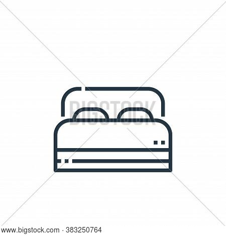 bedroom icon isolated on white background from hotel essentials collection. bedroom icon trendy and