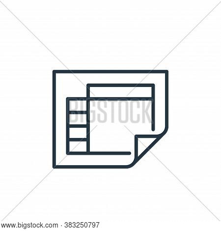 schedule icon isolated on white background from education collection. schedule icon trendy and moder