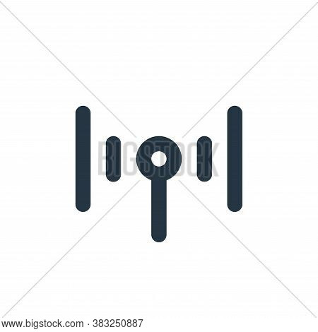 wifi icon isolated on white background from px network and communication collection. wifi icon trend